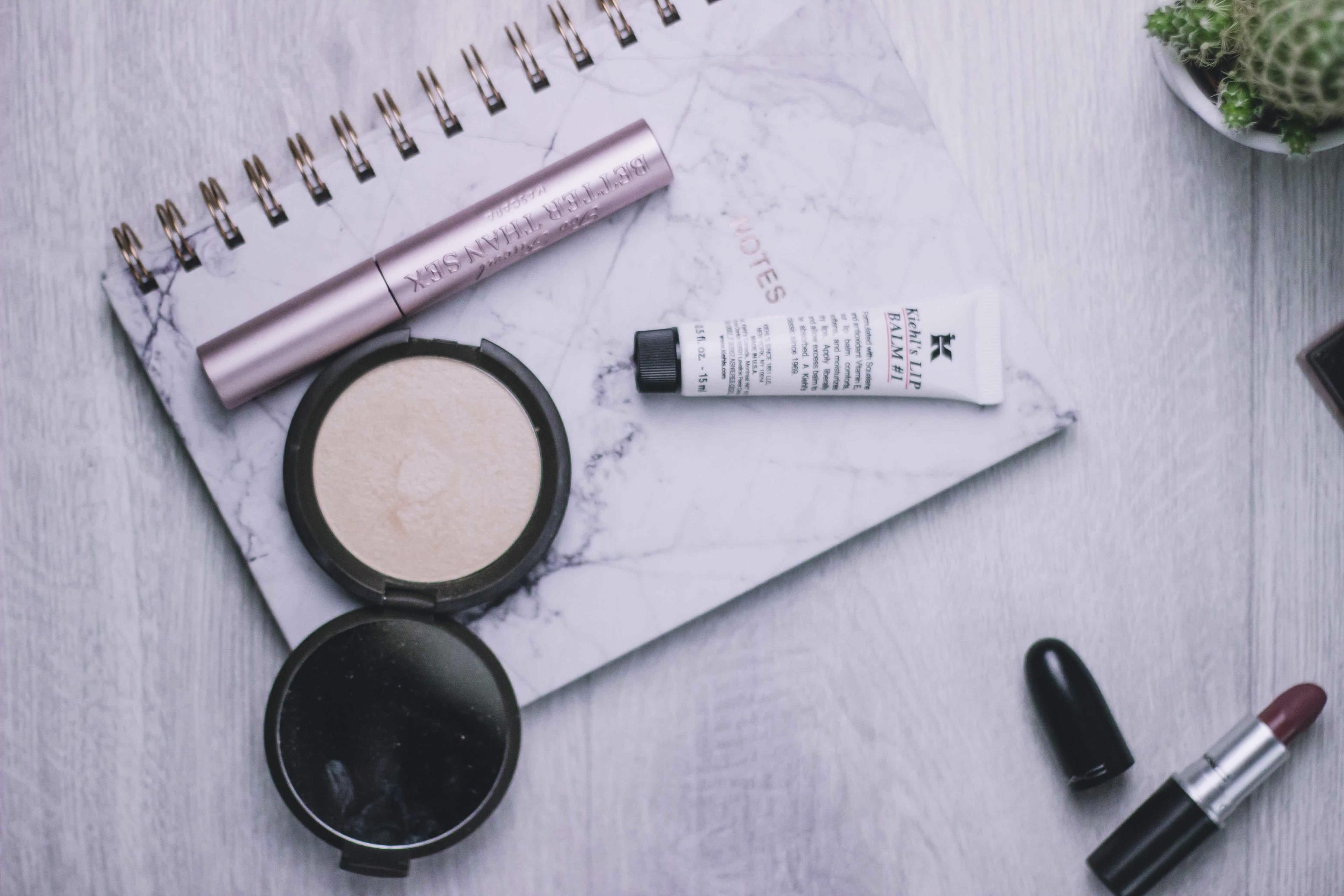 Beauty Favoriten 2017, Lippen, Becca Highlighter Too Faced Mascara